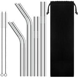 SENHAI Set of 8 Stainless Steel Straws for 30oz 20oz Tumbler