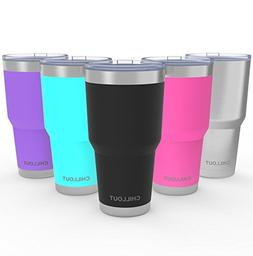 Stainless Steel Tumbler 30 oz with Splash Proof Lid & Gift B