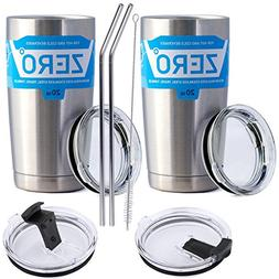 Stainless Steel Tumbler with Lid, Double Wall Vacuum Insulat