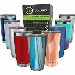 Stainless Steel Tumbler with Lid - CHILLOUT LIFE 20 oz
