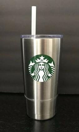 Starbucks Stainless Steel Tumbler With Straw 20 oz  Hot Cold
