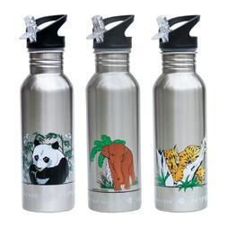 New Wave Enviro Stainless Steel Water Bottle Elephant Leopar