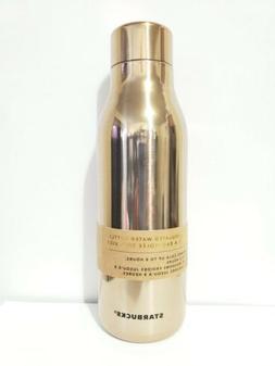 stainless steel water bottles shinny gold twiste