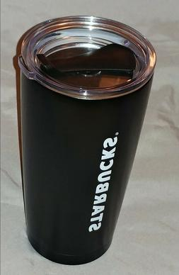 STARBUCKS COFFEE BLACK STAINLESS STEEL VACUUM INSULATED CUP