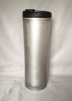 Starbucks Raw Unpolished Silver Gray Stainless Steel Tumbler