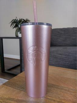 Starbucks Sparkling Pink Stainless Steel Cold Cup Tumbler 20