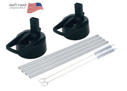 straw lid 2 pack fits wide mouth