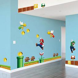 Super Super Mario Build a Scene Peel and Stick Wall Decal St