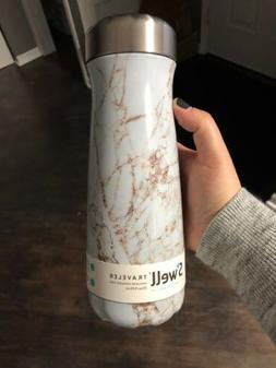 S'well Traveler Water Bottle Insulated 20oz Calacatta Gold