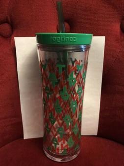 Teavana 20oz Cold Cup Contigo Red Green Art Starbucks Discon