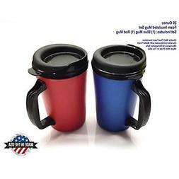 ThermoServ Foam Insulated Coffee Mug 20 oz w/Lids Microwave