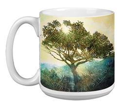 Tree of Time Extra Large Mug, 20-Ounce Jumbo Ceramic Coffee