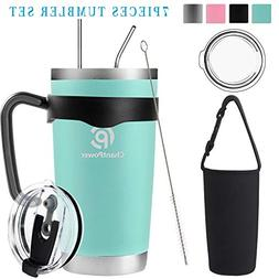 20oz/30oz Tumbler, Travel Coffee Mug Set for Cold & Hot Drin