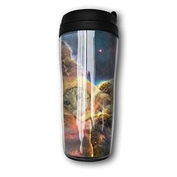 MANKCEST Tumbler Travel Mug Funny Pizza Cat Tea Cup Food Gra