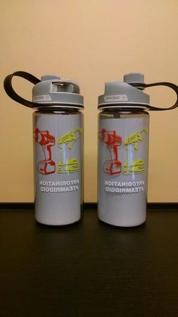 Two  Ryobi/Ridgid Nalgene 20 oz. Multi-Drink Water Bottle, N