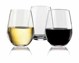 Vivocci Unbreakable Elegant Plastic Stemless Wine Glasses 20