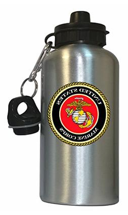 US Marine Corps Water Bottle Silver