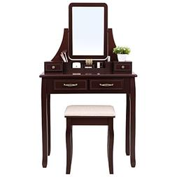 SONGMICS Vanity Set, 2 Large Sliding Drawers, Removable Make