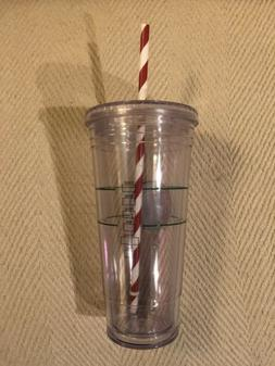Starbucks Venti Clear Plastic Dble Wall Cold/Iced Cup Tumble