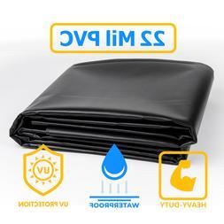 Vinyl Pond Liner 20 oz. 22 mil Heavy Duty Black PVC Tarp