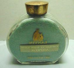 VTG LANVIN ARPEGE - Emollient Perfume BATH SALTS 20 oz Glass