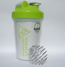 Blender Bottle W/wire Shaker Ball, 20 Ounce Shaker Bottle fo