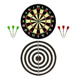 Wall Dartboard Bullseye Game Double Sided 20 Point Dart Clas