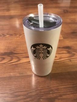Starbucks White w/ logo Stainless Steel 20oz Tumbler Hot or