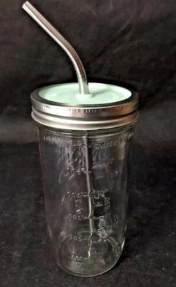 Ball Wide Mouth Glass Mason Jar Travel Lid Drinking Cup Meta