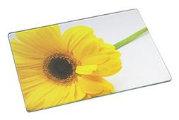 Rikki Knight Yellow Sunflower Close-Up Macro Large Glass Cut