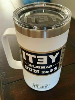 Yeti Rambler 24oz mug with Standard Lid- 100% Authentic - Di