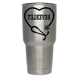 Yeti RN, Yeti Custom Name Nurse Stethoscope Decal , Yeti Tum